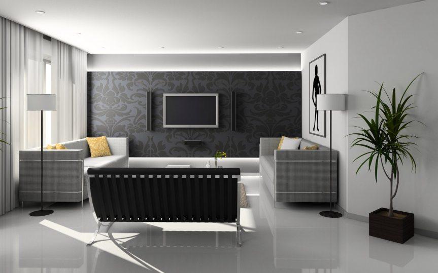 salon vintage noir et blanc