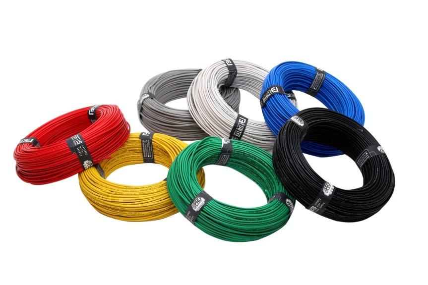 rouleaux de fils electriques
